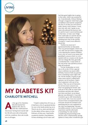 Desang Magazine, My Diabetes Kit, Charlotte Mitchell the guilty diabetic