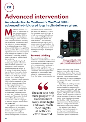 Medtronic MiniMed 780G System Automated for an easier way to stabilise glucose levels.