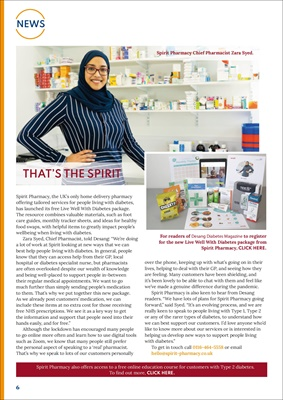 Spirit Pharmacy for people with diabetes
