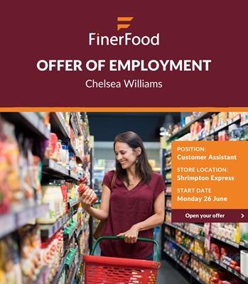 FinerFood Job Offer