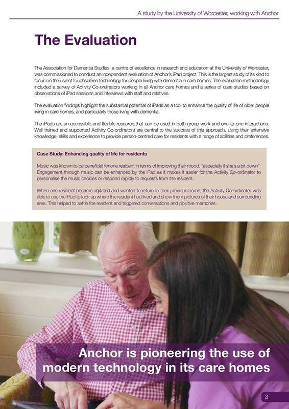 How iPads can help people living with dementia: a summary