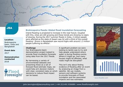 Brahmaputra floods: Global flood inundation forecasting