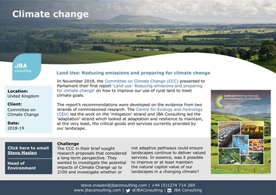 Land Use: Reducing emissions and preparing for climate change