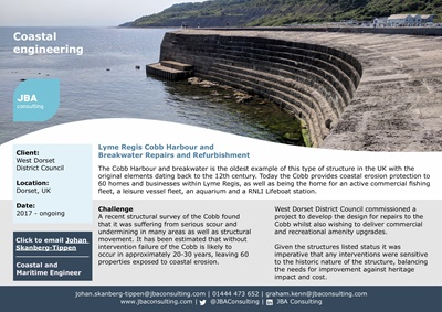 Lyme Regis Cobb Harbour and Breakwater Repairs and Refurbishment
