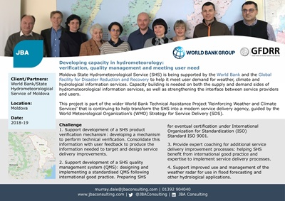 Developing capacity in hydrometeorology: verification, quality management and meeting user need