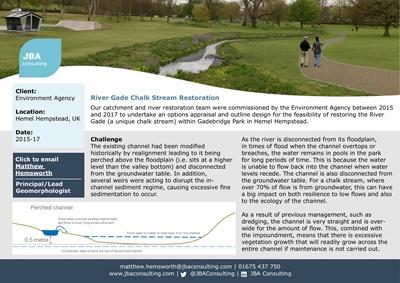 River Gade Chalk Stream Restoration